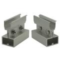 Techo de estaño Clip Lock Standing Seam Roof Hook Aluminio Solar Clamp