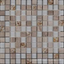 Popular in Ethiopia Manhattan Blend Stone Glass Mosaic Tile Sheets