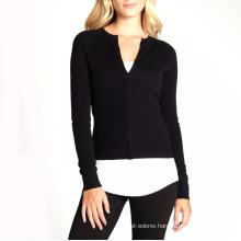 15PKCAS15 2016 women's slim fit winter cotton cashmere v neck sweater