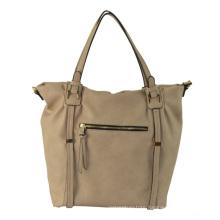 Ladies PU Casual Handbag with Metal Zipper, 2015 Winter Collection