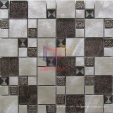 Latest New Design Aluminium Mixed Glass and Steel Mosaic (CFM996)
