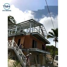 Villa de estructura de acero ligera de revestimiento de PVC de buena calidad de la fábrica de Foshan
