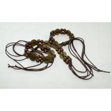 Fashion Hand made garment waxed cord braided belts-KL0058