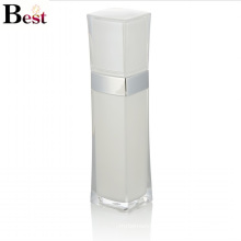 high end luxury white square plastic acrylic lotion bottle with pump for skin care cream use