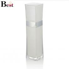 высокого класса люкс белый квадрат пластиковые акриловые бутылка лосьона с насосом для ухода за кожей используйте крем
