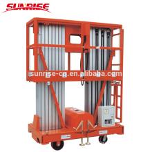 Plataforma de trabalho de elevação aérea de alumínio elétrico móvel