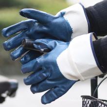 NMSAFETY nitrile coated industrial heavy duty glove EN 388 4111