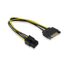 SATA 15 pinos para cabo de alimentação de placa de cabo PCI-E de 6 pinos Express