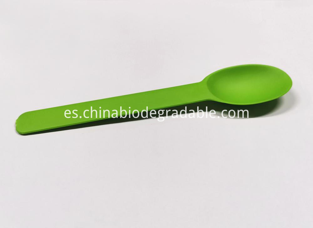 Compostable Kitchen Utensils PLA Plastic Spoon