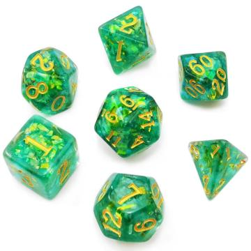 Bescon Dense-Core Polyhedral Dice Set of Mint, RPG 7-Dice Set in Brick Box Packing