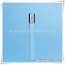 aromatherapy glass roll on bottle with metal cap
