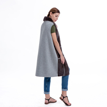 Gilet in cashmere con visone fashion