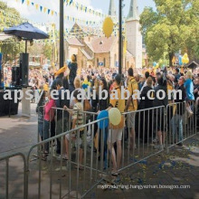crowd control barriers/fence