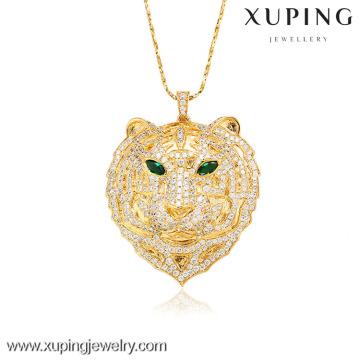 32008-Xuping joyería de imitación colgantes de moda para mujer con 18 K chapado en oro (la forma de leopardo)
