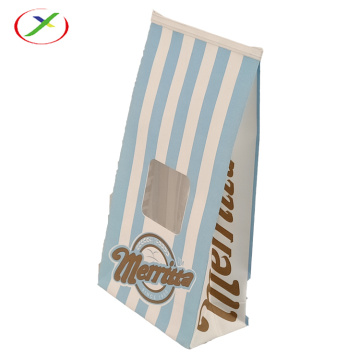 white kraft paper popcorn paper bag