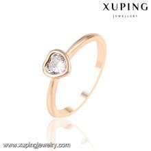 13953 Moda Mais Recente Cubic Zirconia Anel de Dedo em Forma de Coração Jóias em Ouro 18k -Placa