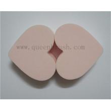 Esponja de maquiagem cosmética em forma de coração popular