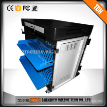 Laptop charging and storage cabinet use full extension slides laptop charging case