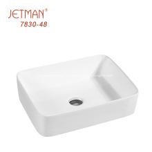 éviers de vanité de salle de bains en céramique incassable lavabo à main