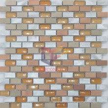 Orange Color Metal Mix Glass Mosaic (CFA46)
