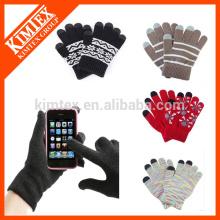 Invierno personalizado magia texting pantalla táctil guantes / manoplas
