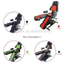 Schwarz, grün, rot, Leopard Druckfarbe professionelle Salon Stuhl Hersteller / Großhandel Tattoo Stühle für Verkauf / Tattoo Stuhl Tattoo