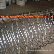 Sharp Razor Barbed Wire / Barbed Razor Wire / Galvanized Razor Wire / PVC coated razor wire / barbed wire ---- 30 years factory