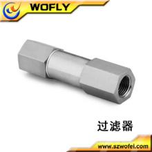 Filtro de alta pressão do tubo de gás do aço inoxidável