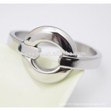 Stainless steel jewelry supplier personalised silver bangle bracelet