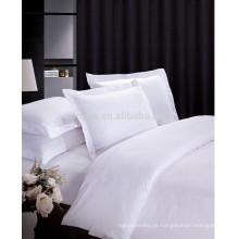 Hotel de luxo 100% algodão acetinado conjunto de folhas de Jacquard Design
