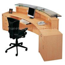 Nova mesa de recepção de madeira de design e moda (HF-R007)