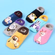 Enfants Kids Chaussettes en coton avec motif d'impression (KA201)