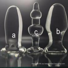 Tapones anales de cristal del juguete del sexo de la alta calidad para la mujer