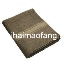 Tejido lana 30% lana /70%Polyester ejército /Military manta (NMQ-AB006)