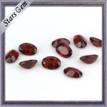 Garnet profundo brilhante natural para a jóia da forma