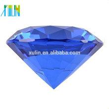 Novo Big 100mm De Cristal De Diamante Forma Paperweight De Vidro Gem Display Presente Quente