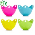 Silicone Egg Poaching Cups dengan Ring Standers