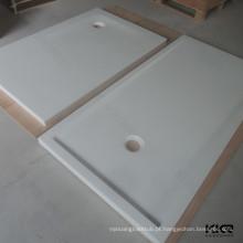 Base acrílica do chuveiro da pedra de superfície do sólido branco / bandeja do chuveiro da pedra do molde