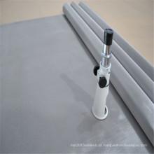 Malha de aço inoxidável da impressão da tela do Weave 316L liso