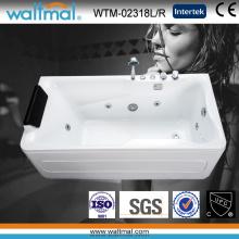 Cool Rectangular Beautiful White Acrylic Whirlpool Massage Bath Tub (WTM-02318L/R)