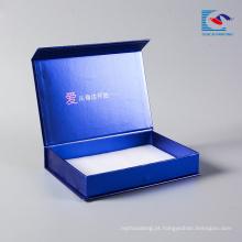 A embalagem feito a mão personalizada luxo do cartão da máscara da impressão faz para compor a caixa para o empacotamento cosmético