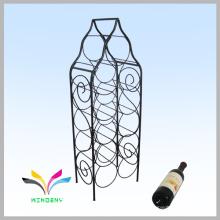 Smartable negro mostrador de alambre de vinos de supermercado