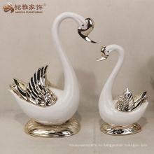 Смола лебедь статуя свадебные украшения для сувениры