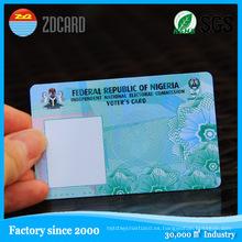 Tarjeta plástica reescribible de la raya magnética del PVC