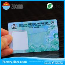 Cartão de fita magnética regravável de PVC