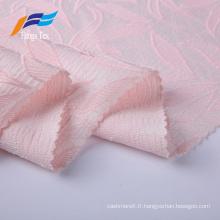Tissu de robes de broderie jacquard à la mode 100% polyester