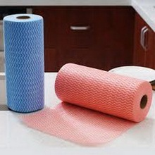 Household Printed Nonwoven Spunlace Cloth Roll
