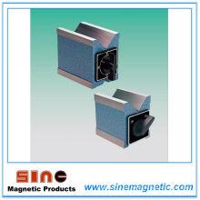 Soporte de bloque magnético V para productos de cilindros de proceso