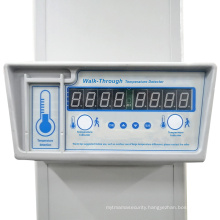 High Security Walk Through Temperature Scanner Fever Screening Metal Detector Door with Detecting Body Temperature