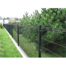 Clôture en PVC à faible teneur en carbone soudé recouvert de PVC noir flexible (YB-223)